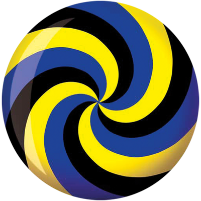 Brunswick Viz-A-Ball <br>Spiral Yellow / Blue / Black