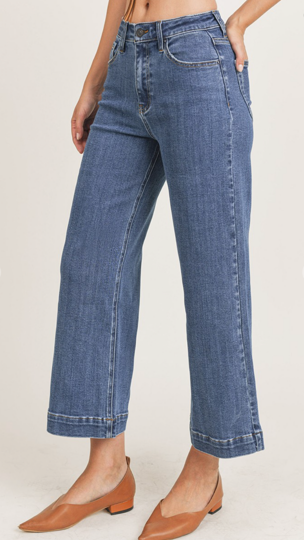 Ankle Wide Leg Jean