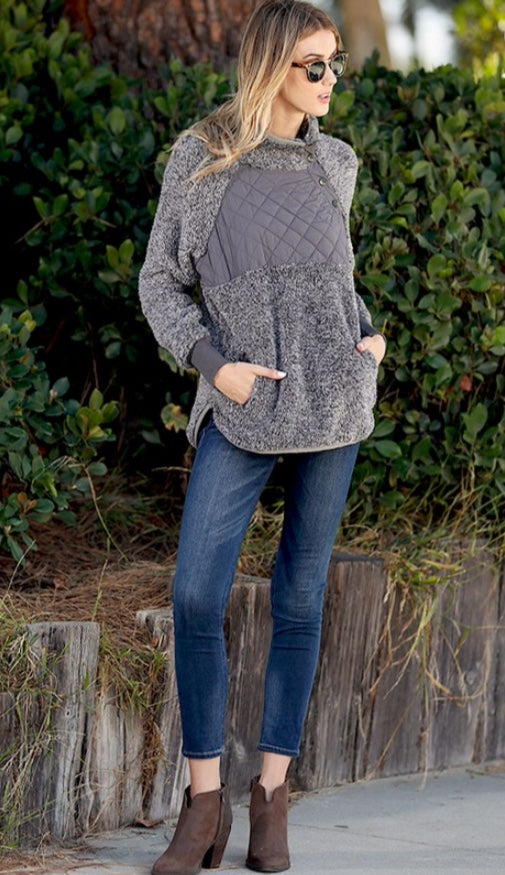 Quilted Pullover