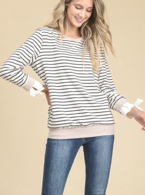 Fancy Sleeve and Stripes