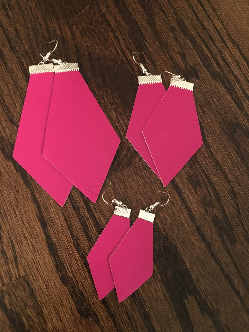 Leather Jewel Cut Earrings