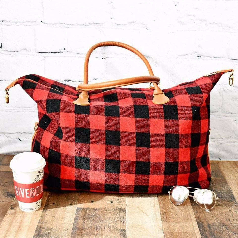 Buffalo Plaid Duffle