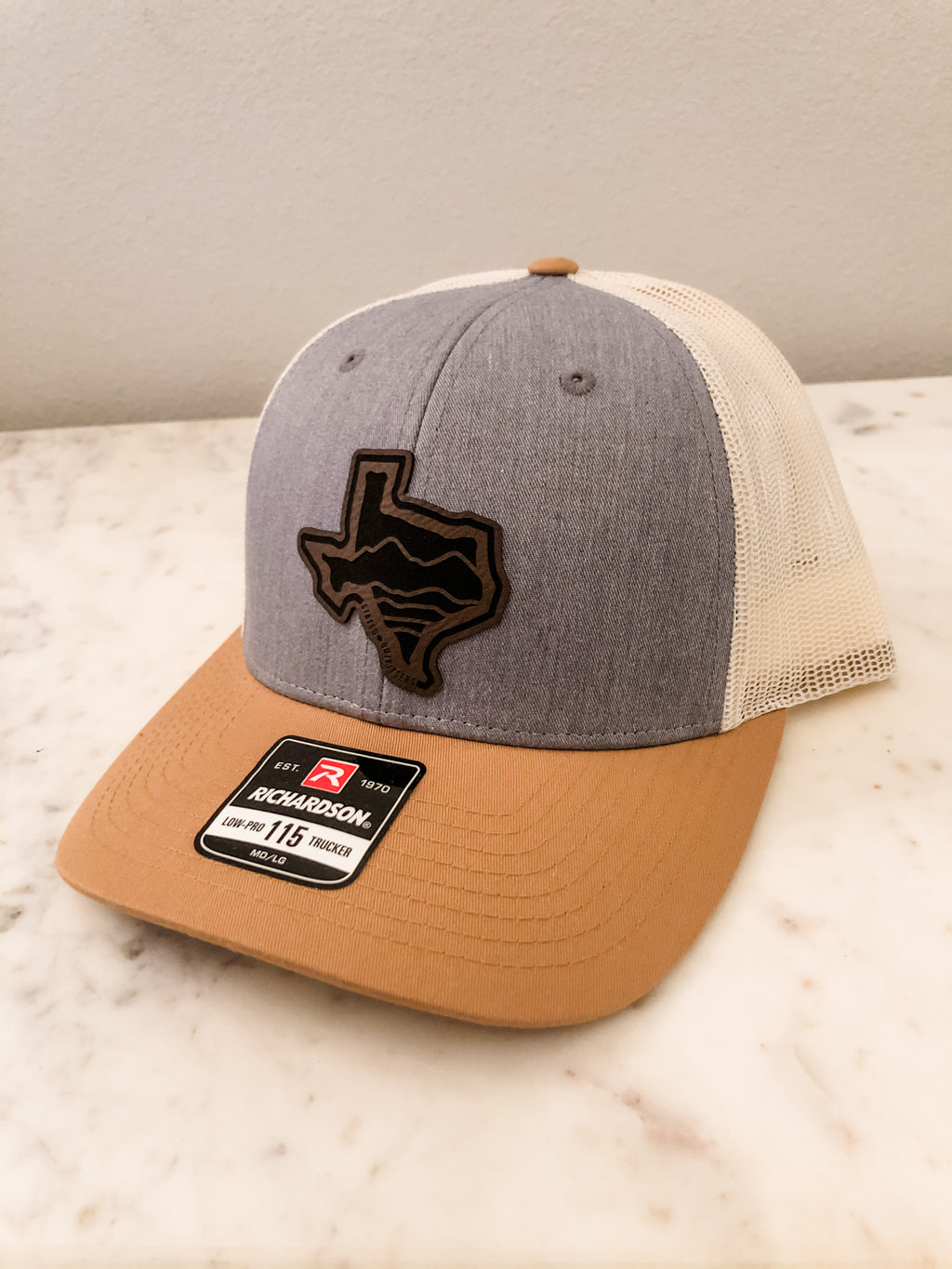 Texas Leather Patch Baseball Cap