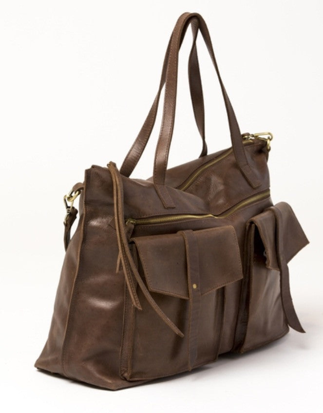 Traveler Weekender Bag (Color- Tobacco)