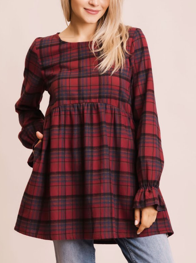 Plaid Baby Doll