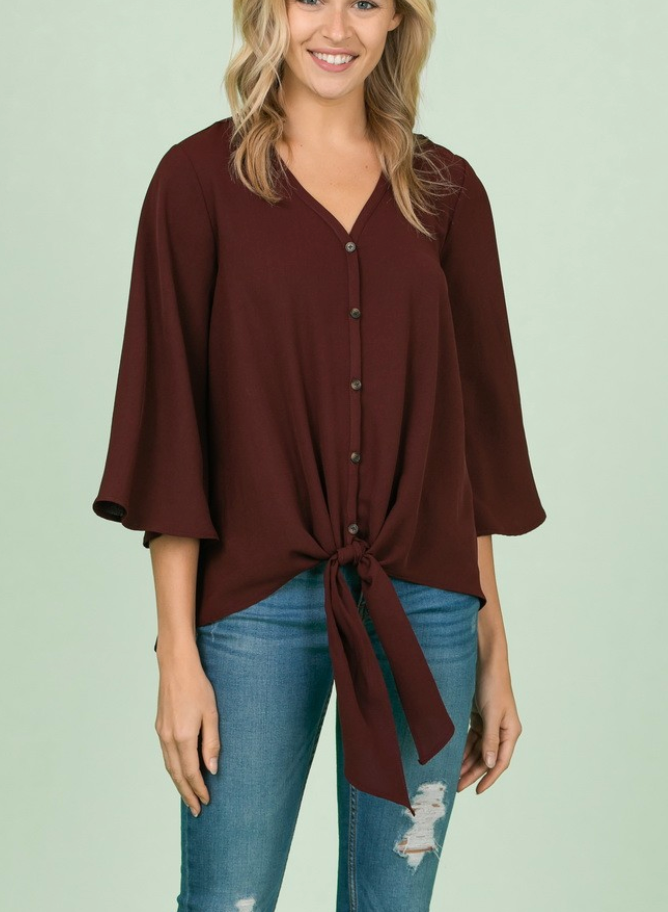 Button Up Bell Top