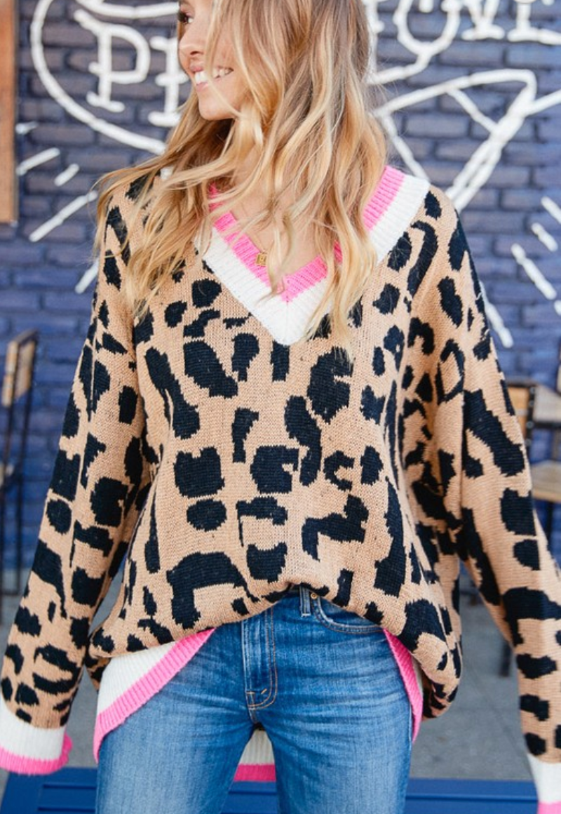 Leopard Lily Sweater