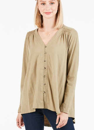 Everyday Button Blouse