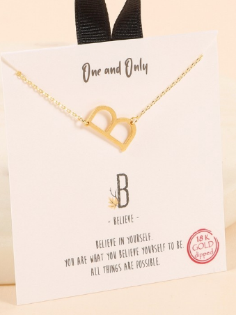 Letter Initial Charm Necklace