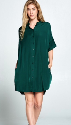 Green with Envy Shift Dress