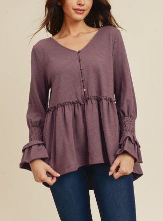 Smoked Peplum Top