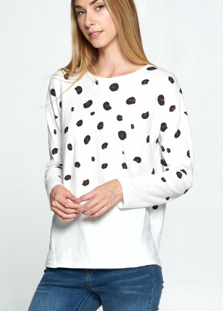 Long Sleeve Leopard Tee