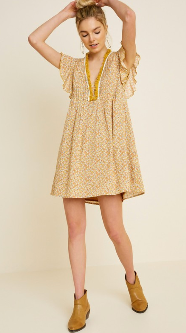 Mixed Mustard Tunic