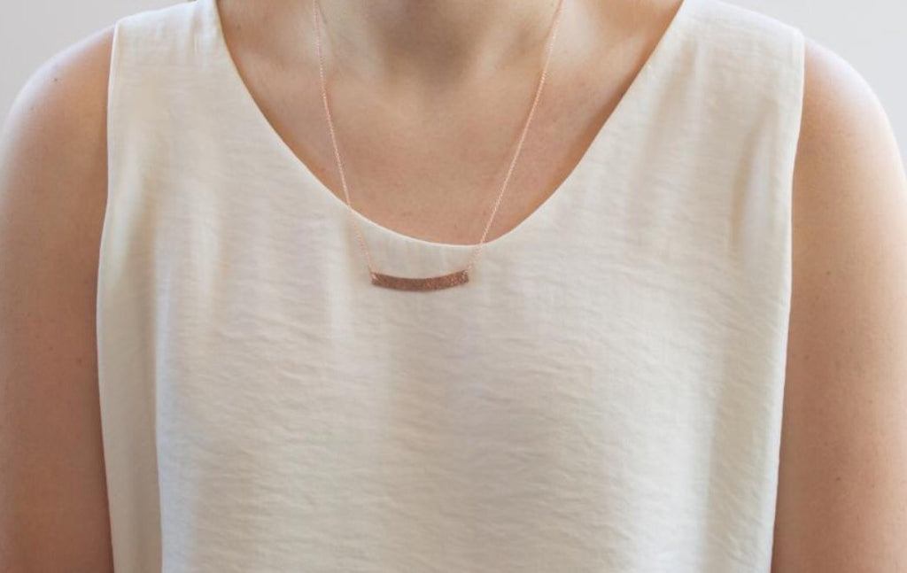Thick Bar Necklace