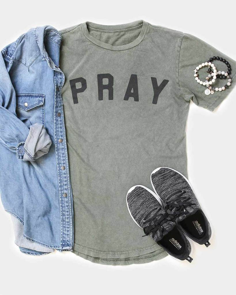 Pray- Long Body Tee