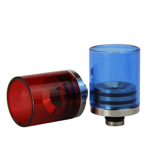 Super Wide Bore Stainless Steel & Coloured Glass Drip Tips (GLS017)