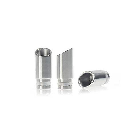 Smooth Slash Cut Exhaust Style Wide Bore Stainless Steel Drip Tip (SS009)
