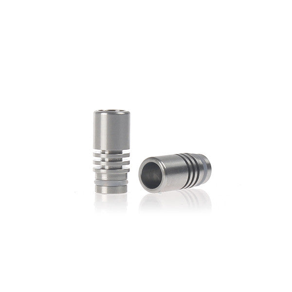 Heat Sink Style Wide Bore Stainless Steel Drip Tip (SS010)