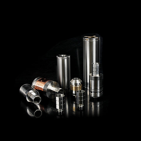 Hexagonal Patterned Wide Bore Stainless Steel Drip Tip (SS012)