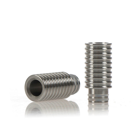 Ribbed Wide Bore Stainless Steel Drip Tip (SS016)