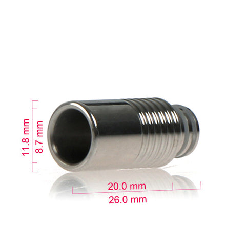 Half Ribbed Stainless Steel Drip Tip (SS017)