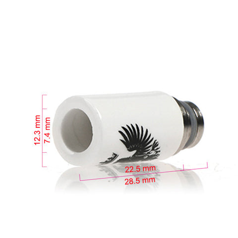 Ceramic & Stainless Steel Eagle Drip Tip, Slashed Or Straight Cut (CER001)