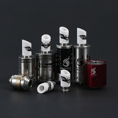 Ceramic & Stainless Steel Skull Drip Tip, Slashed Or Straight Cut (CER002)