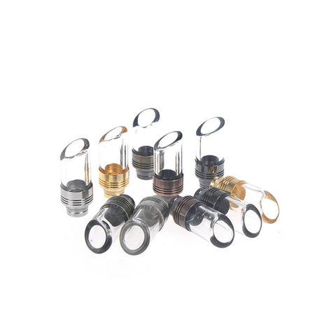 Slash Cut Metal & Glass Wide Bore Drip Tips (GLS003)