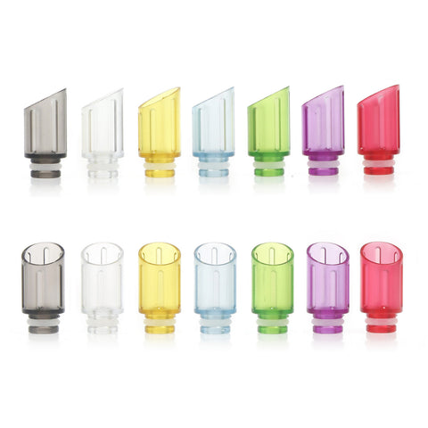 Transparent Plastic Slash Cut Design Wide Bore Drip Tips (PLA002)