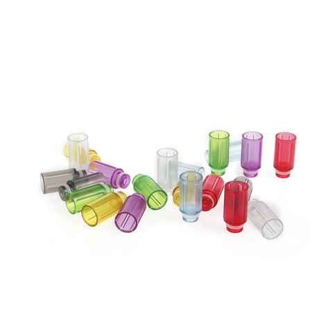 Transparent Plastic Straight Design Wide Bore Drip Tips (PLA003)