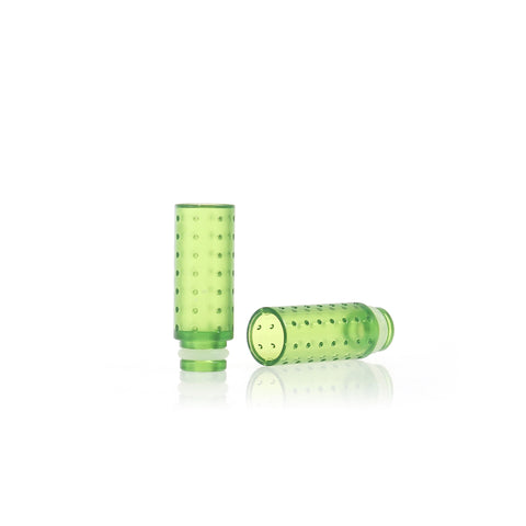 Transparent Plastic Dimpled Design Wide Bore Drip Tips (PLA004)