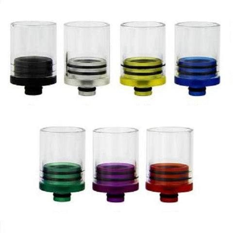Super Wide Bore 510 Transparent Plastic & Glass Drip Tips (GLS015)