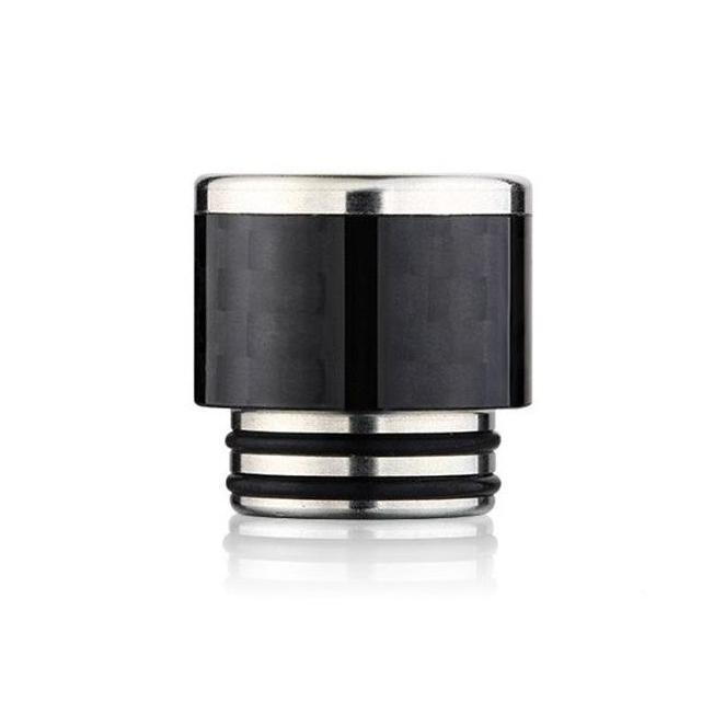 Stainless Steel & Carbon Fibre Drip Tip To Fit The Smok TFV12, TFV8 & TFV8 Big Baby (CF009)