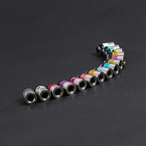 Aluminium, Stainless Steel & Delrin Adjustable Air Flow Wide Bore Drip Tips (AIR002)