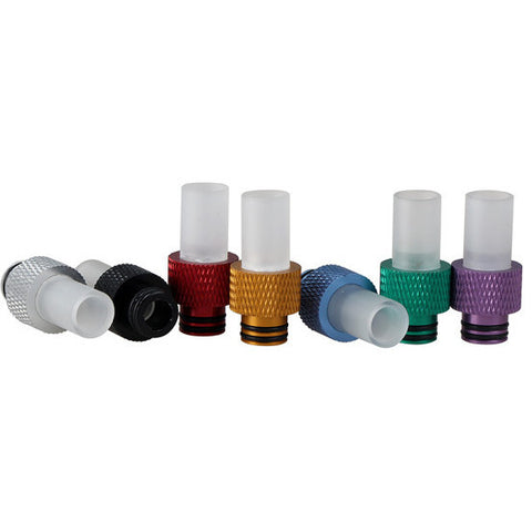 Aluminium & Transparent Wide Bore Drip Tips (ALU001)