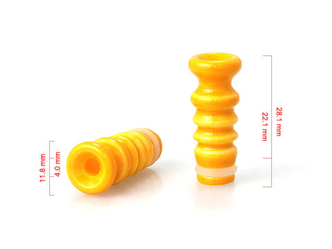 Ceramic Ribbed Style Drip Tips (CER010)