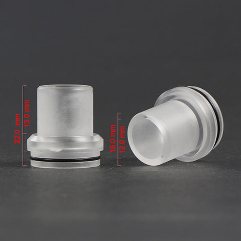 Chuff Enuff Style 22mm Domed Transparent RDA Top Cap. (RDA009)
