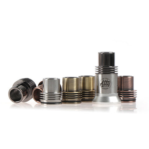 Chuff Enuff Style 22mm Heatsink RDA Top Cap. Available In Copper, Brass or Graphite Finishes (RDA016)