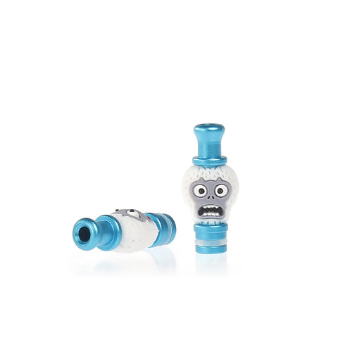 Aluminium Crazy Face Drip Tips (ALU003) - Blue