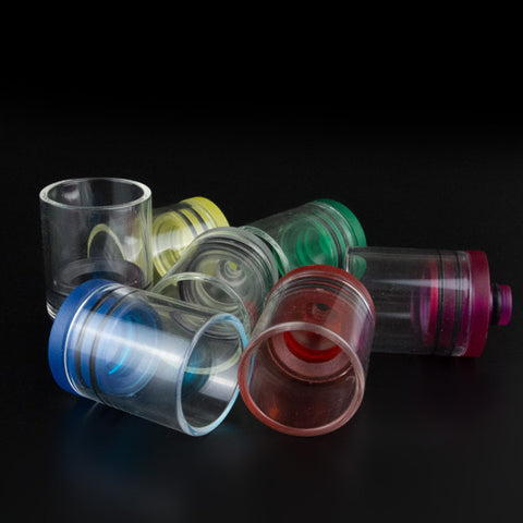 New! Super Wide Bore 510 Transparent Plastic & Glass Drip Tips (GLS015)