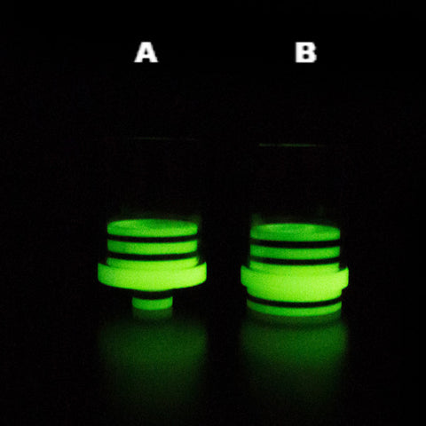 New! Super Wide Bore Glow In The Dark 510 Drip Tip Or 22mm RDA Cap (GLS013)