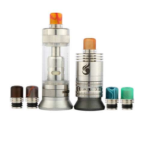 Short Acrylic & Stainless Steel Heatsink Style Drip Tips (SS059)