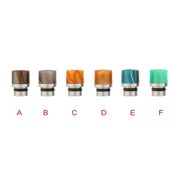 Short Acrylic & Stainless Steel Smooth Style Drip Tips (SS060)
