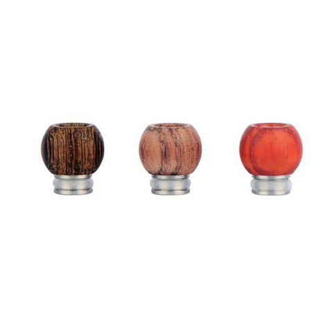 Stainless Steel & Wood Bowl Design Wide Bore Drip Tips (WD014)