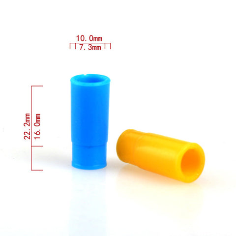 Basic Push Fit Coloured Plastic Drip Tips - Pack of 7 (PLA029)