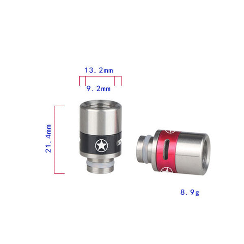Aluminium & Stainless Steel Captain America Adjustable Air Flow Wide Bore Drip Tips (AIR009)