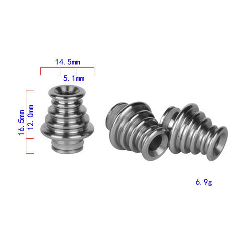 5 Ringed Design Stainless Steel Drip Tip (SS051)