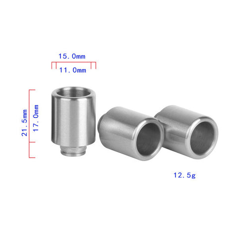 "Smooth ""Extra Wide"" Bore Stainless Steel Drip Tip (SS053)"
