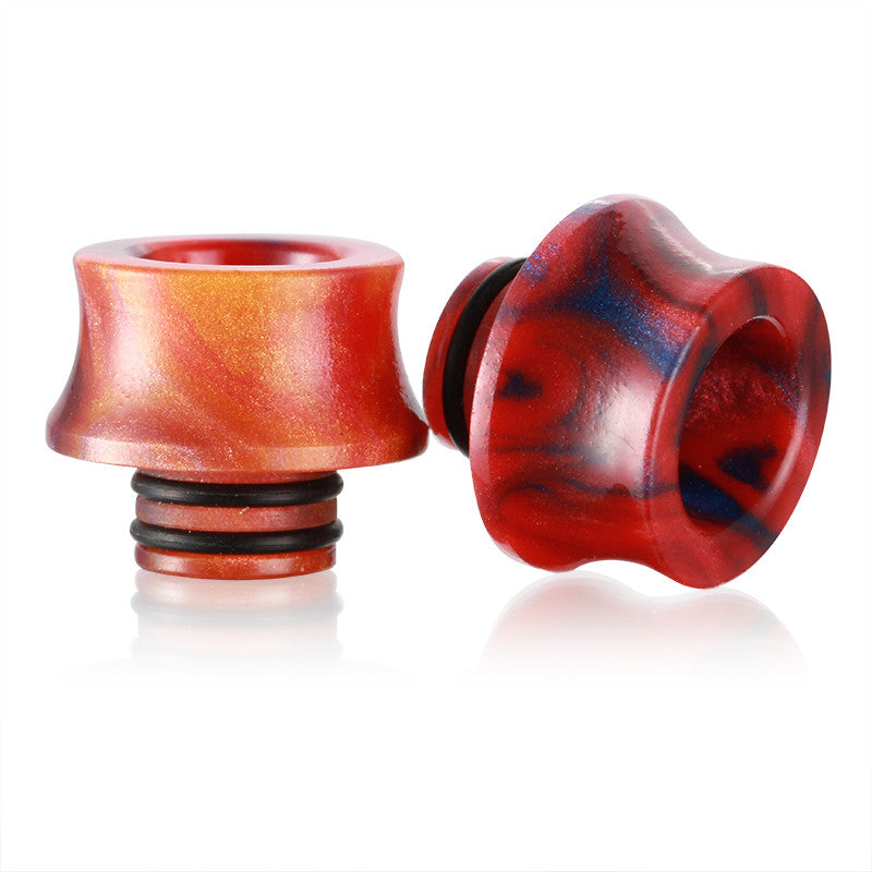 Large Resin Twin O' Ring Wide Bore 510 Drip Tips (RES024)