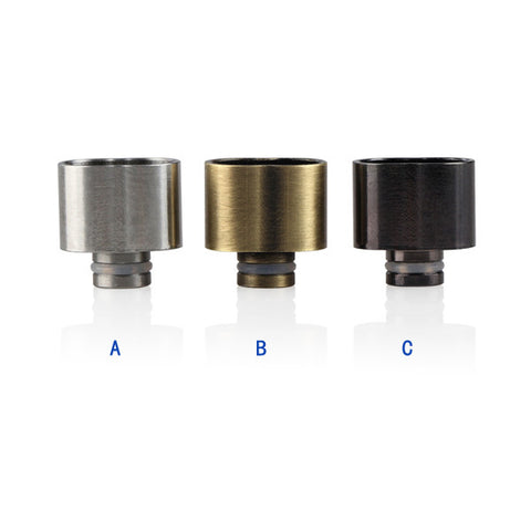 New! Double Barreled Stainless Steel Drip Tips (SS036)
